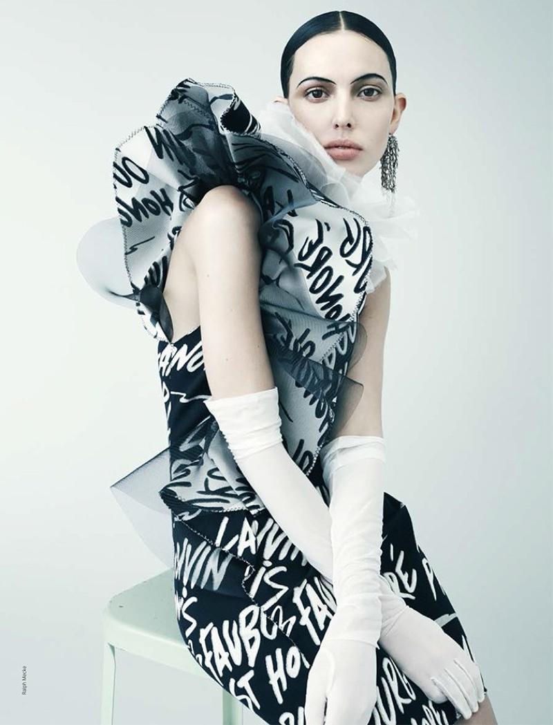 Ruby Aldridge Models Black & White Style for French Revue de Modes