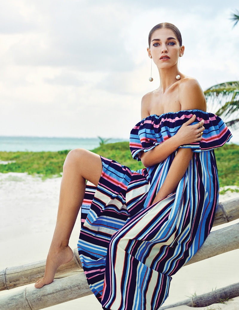 Samantha Gradoville Models Chic Vacation Looks for Vogue Mexico