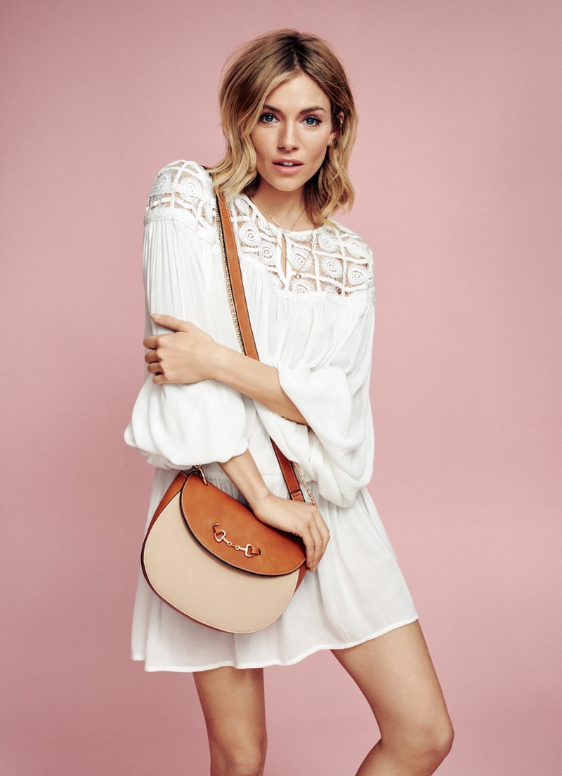Sienna Miller Wears Boho Looks For Lindex`s Spring 2016 Campaign
