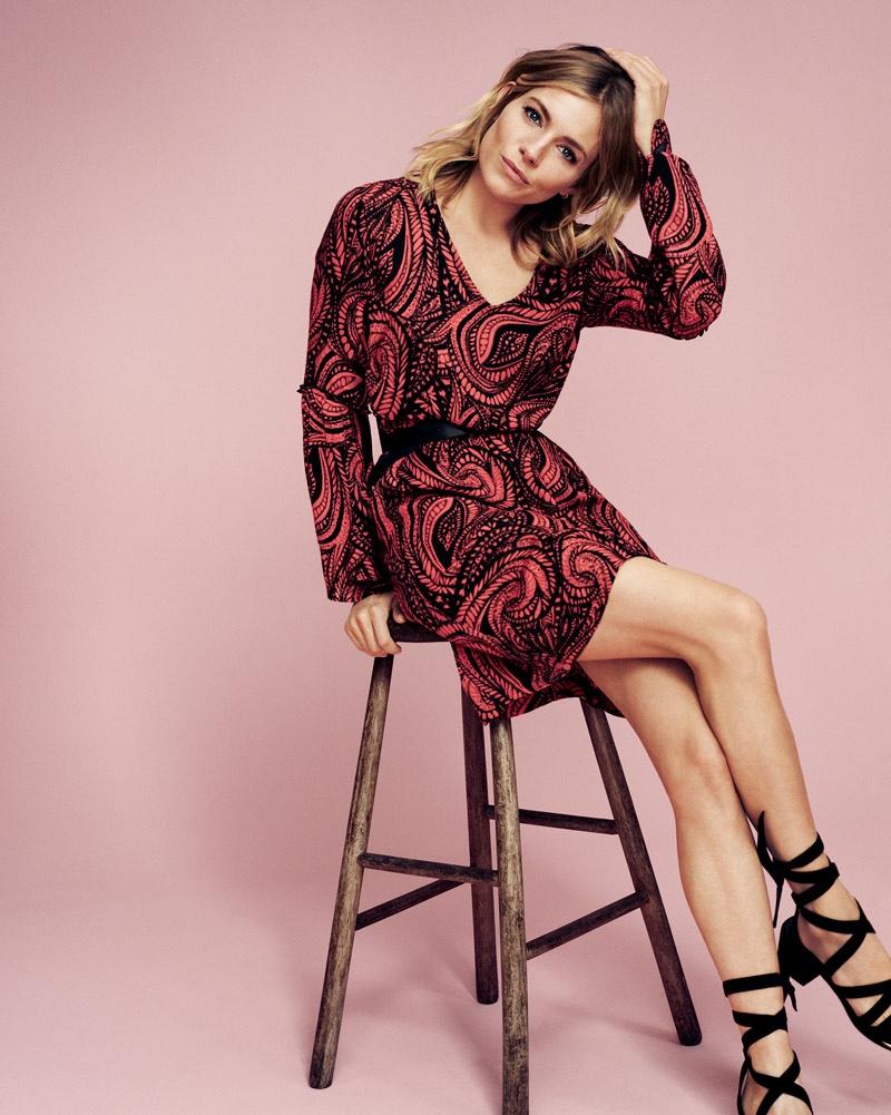 Sienna Miller Lindex Spring 2016 Campaign Photos