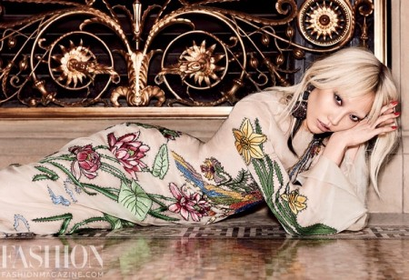 Soo Joo Park Wears Edgy Florals for FASHION Magazine