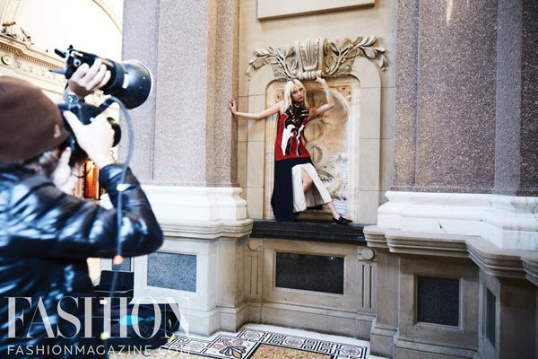 Soo Joo Park behind the scenes on her FASHION cover shoot