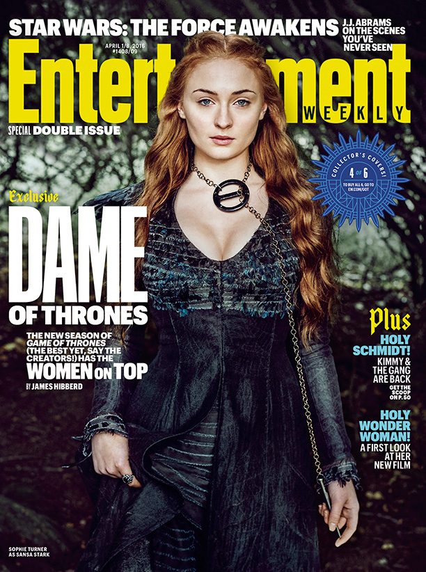 Sophie Turner as Sansa Stark on Entertainment Weekly April 2016 Cover