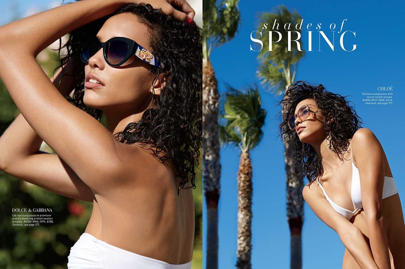 Cora Emmanuel stars in Saks Fifth Avenue's March 2016 catalog