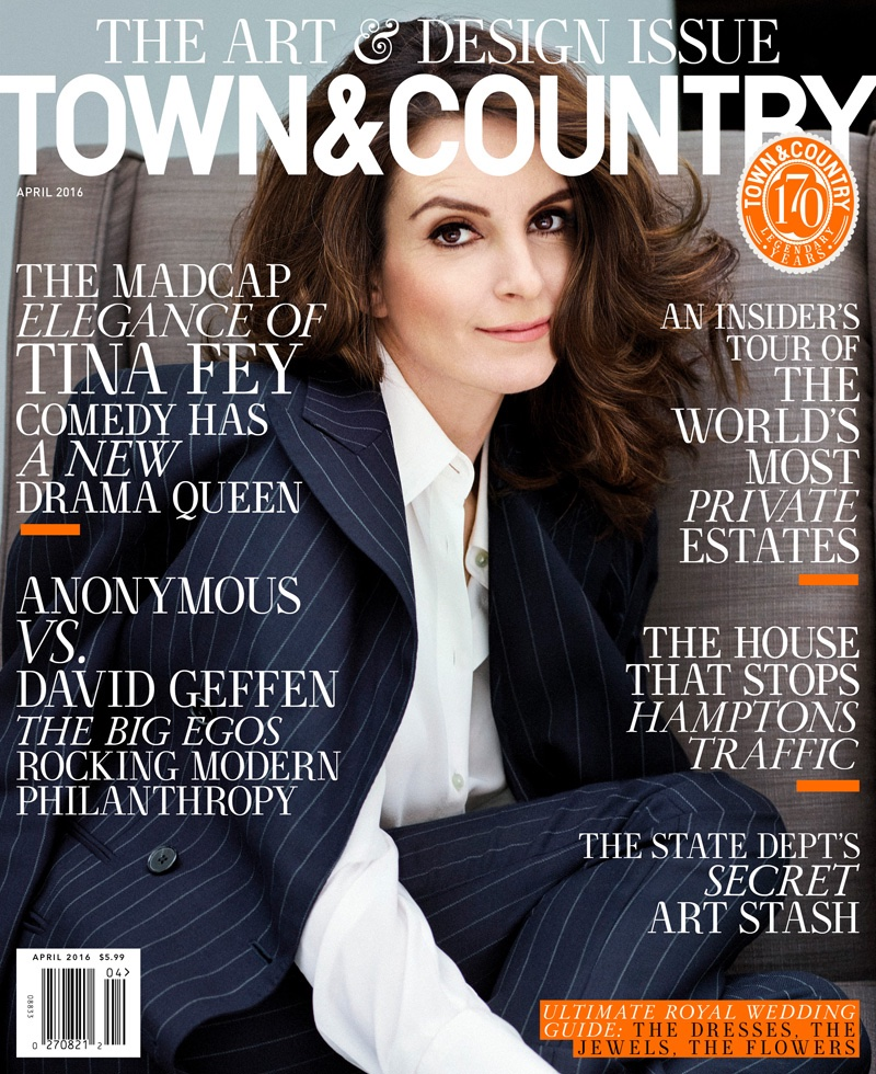 Tina Fey on Town & Country Magazine April 2016 Cover