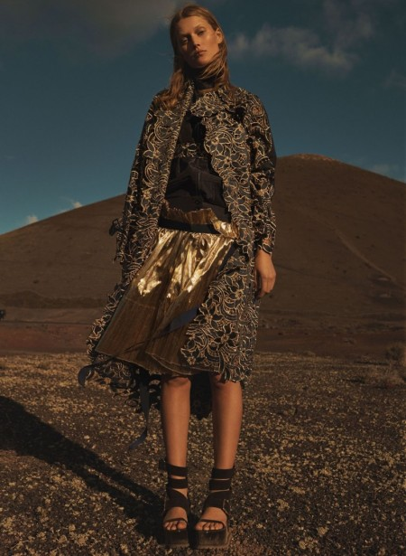 Toni Garrn Models Modern Looks for L'Express Styles