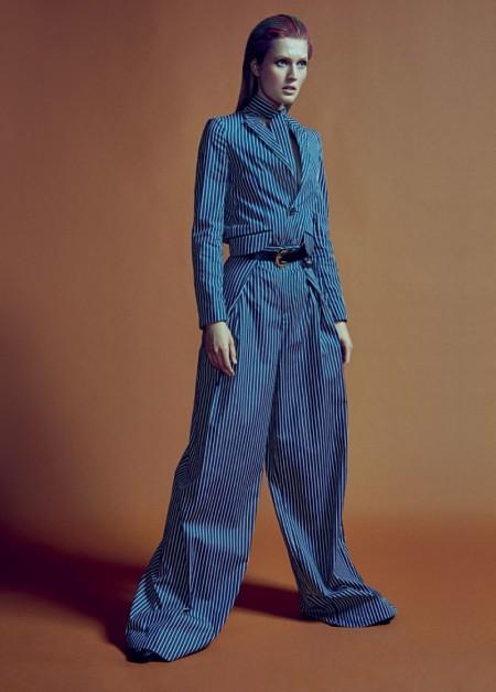 Toni Garrn Takes on the Menswear Trend in W Korea