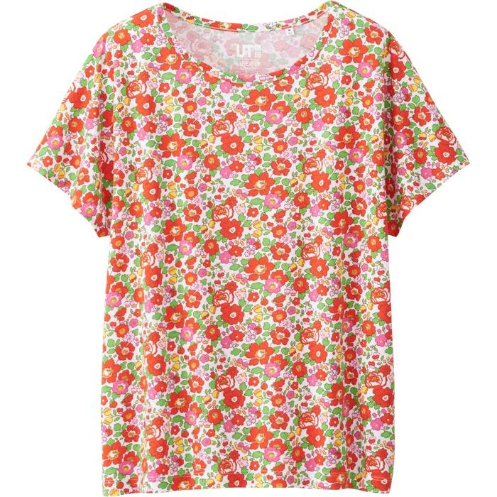 f49d6613e8e Uniqlo x Liberty London Floral Print T-Shirt in Red