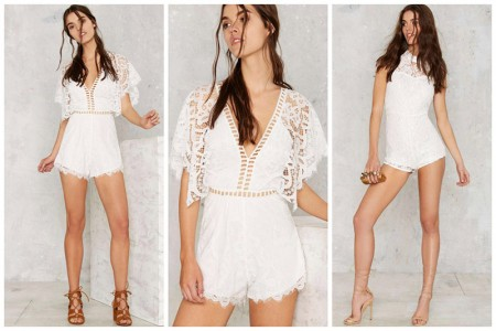 Embrace the Romper in One of These Lace Styles