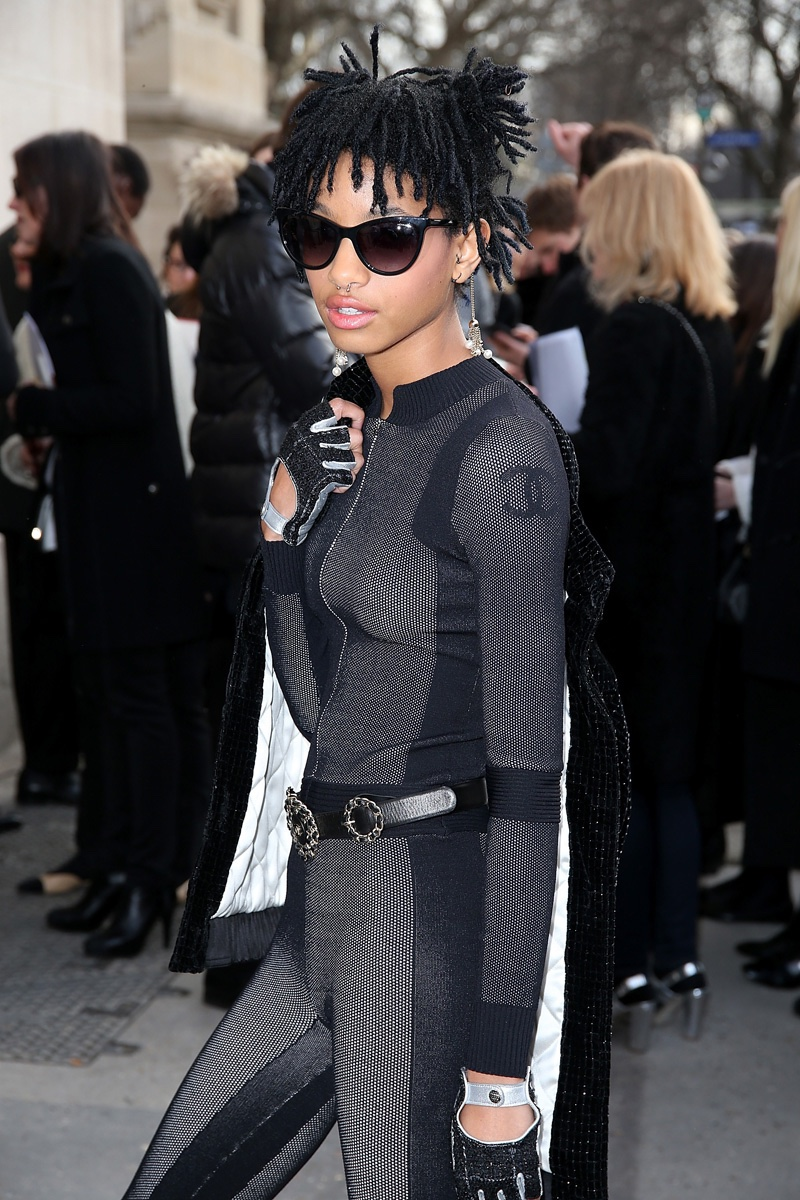 Willow Smith attends the fall-winter 2016 Chanel show during Paris Fashion Week. Photo: Getty Images for Chanel