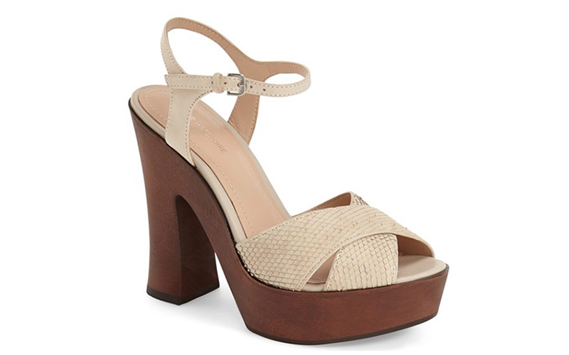 Channel the 70s in the Wooden Platform Sandal