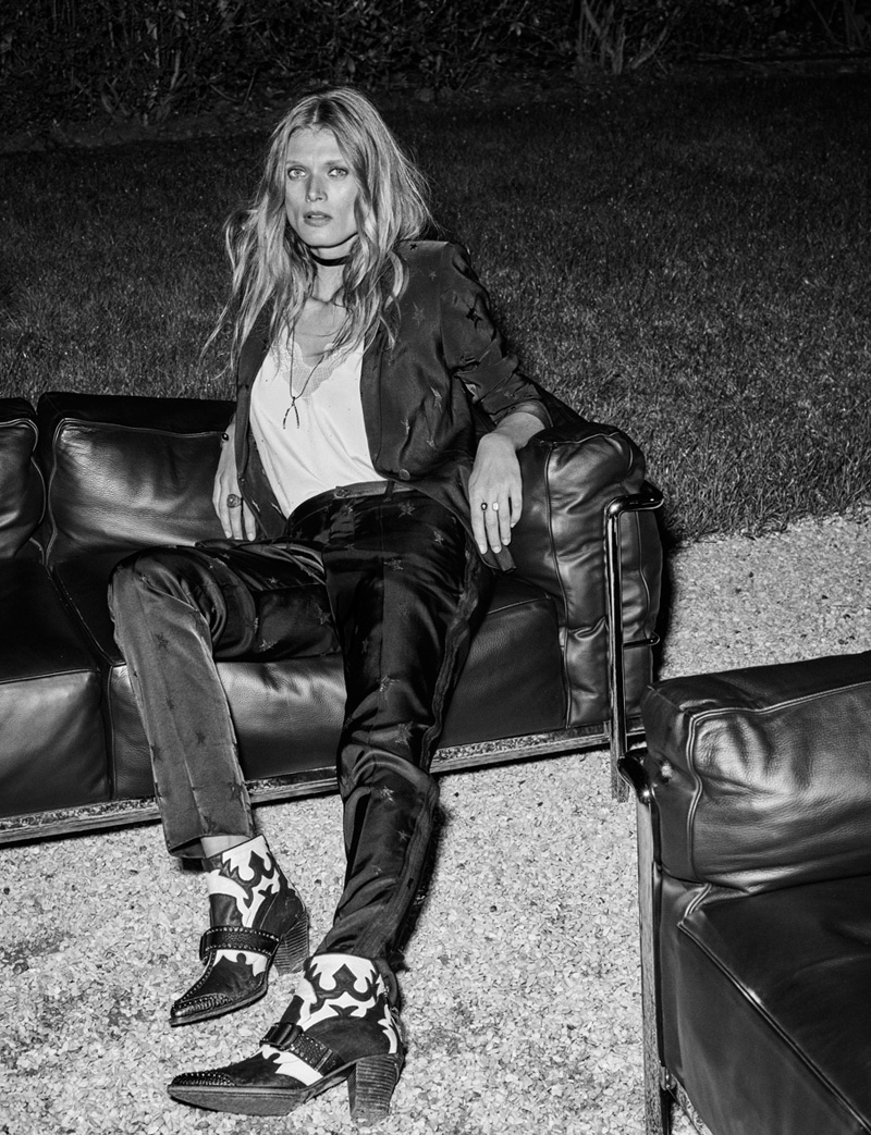 Malgosia Bela Lives It Up In Zadig & Voltaire`s Spring 2016 Ads