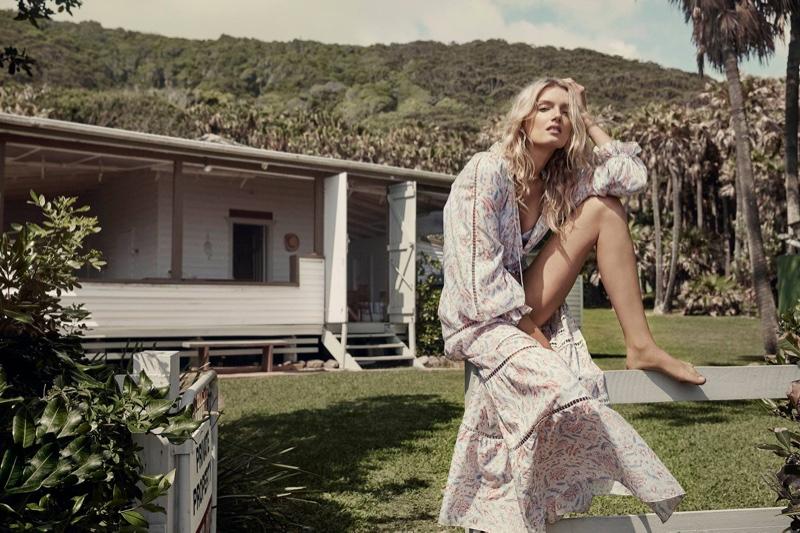 Zephyr Folk Dress & Zephyr Quilt Bikini from Zimmermann's summer 2016 collection