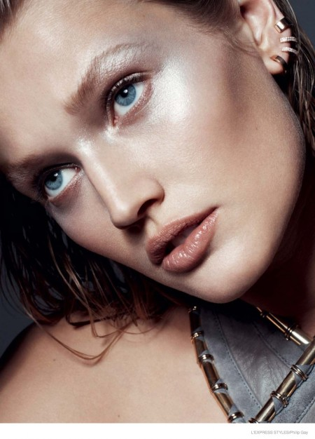 Toni Garrn Stuns with Chanel, Party Ready Makeup Looks for L'Express Styles