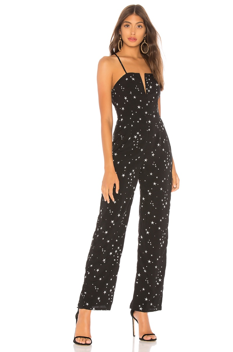 About Us Aaron Wire Wide Leg Jumpsuit $68