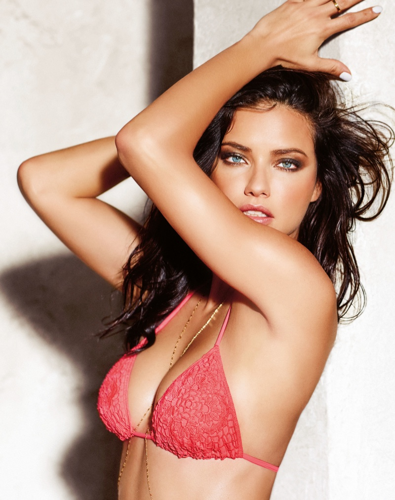 Adriana Lima smolders as the face of Calzedonia swimwear