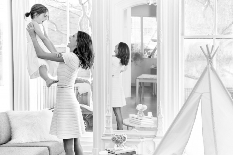 Alessandra Ambrosio poses with her daughter Anja for Michael Kors Mother's Day 2016 feature