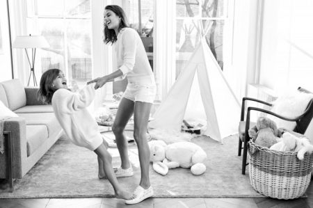 Alessandra Ambrosio & Daughter Anja Pose for the Cutest Mother's Day Shoot