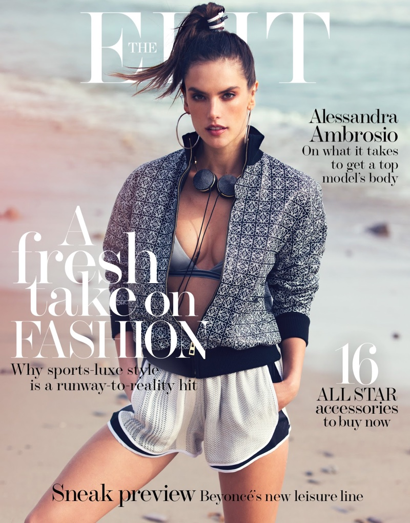 Alessandra Ambrosio on The Edit April 7, 2016 Cover