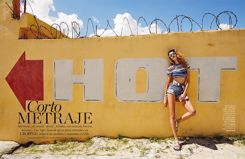 Ana Beatriz Barros stars in ELLE Spain's May issue