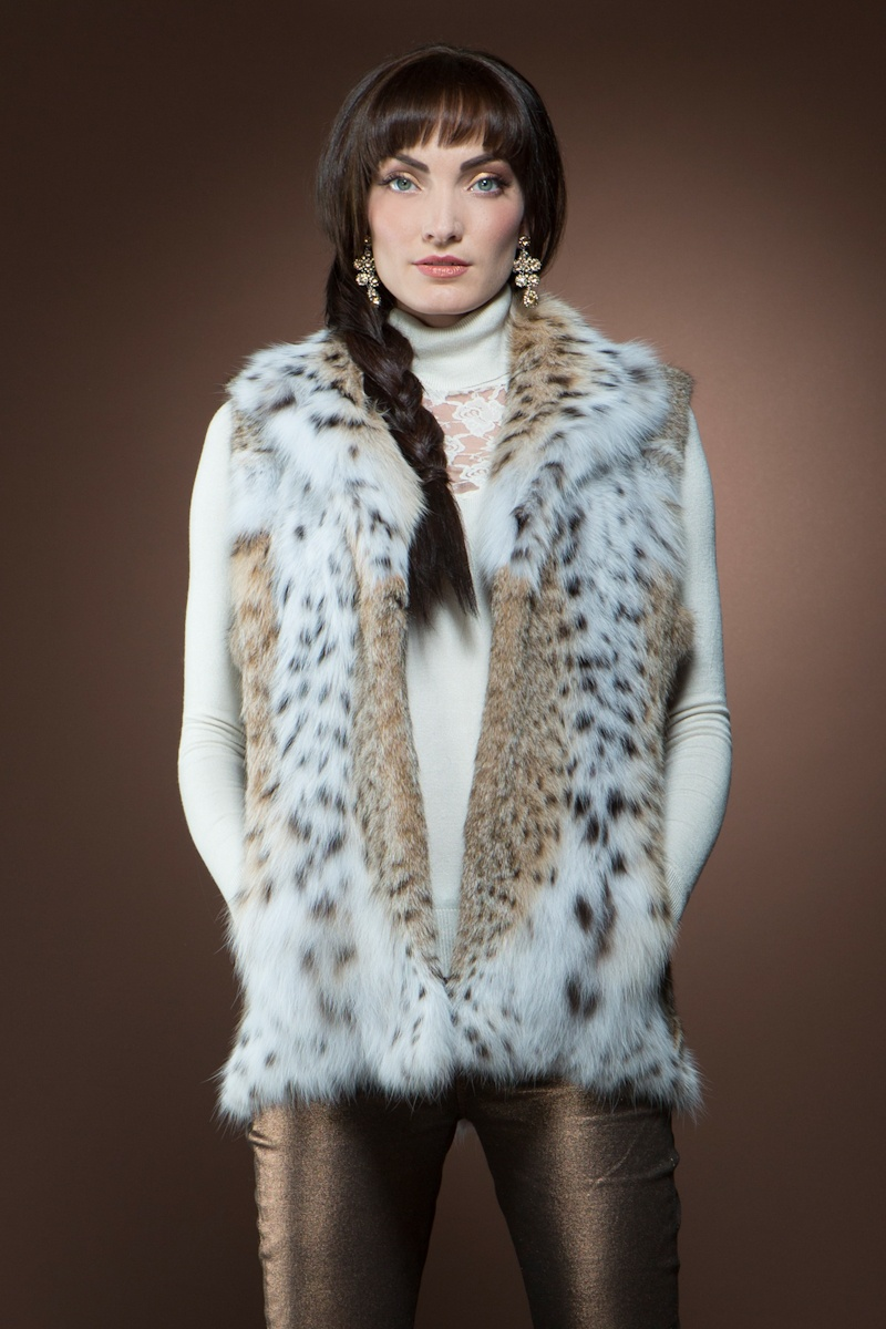 Anamoda Natural American Lynx Fur Vest $5,995 - Be inspired by Rachel Zoe with a fur vest. Pair with a long sleeve top and flared pants or wear with a maxi dress for that perfect bohemian look.