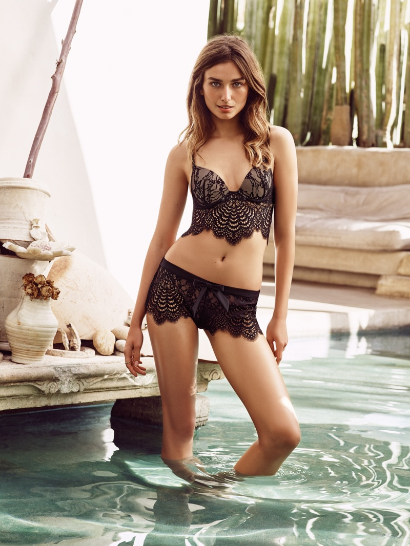 Andreea Diaconu Brings the Heat in Etam Lingerie