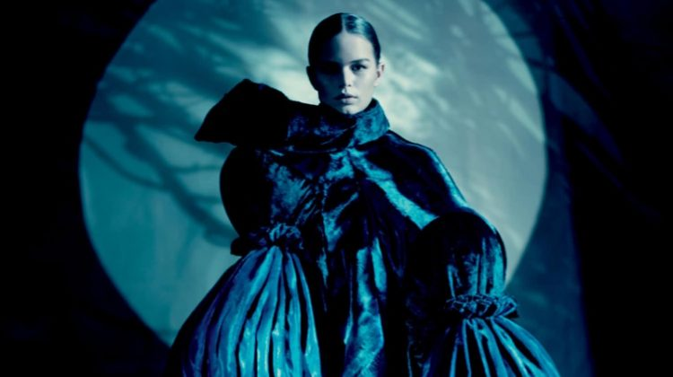 Anna Ewers Poses in Comme des Garçons' Avant-Garde Shapes for Dazed