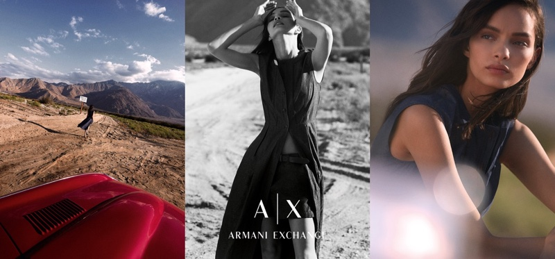 Photographed by Riccardo Vimercati, Armani Exchange's spring 2016 campaign was captured in Malibu, California