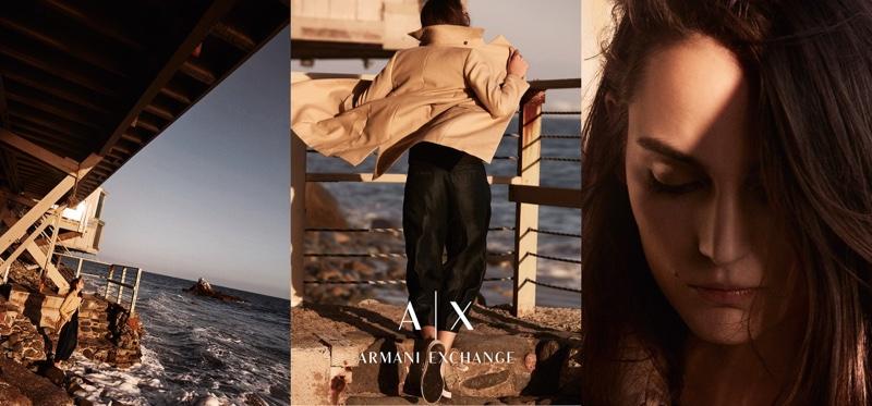 Zuzanna Bijoch stars in Armani Exchange's spring 2016 campaign