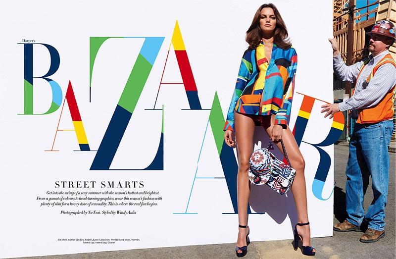 Barbara Fialho stars in Harper's Bazaar Singapore's April issue