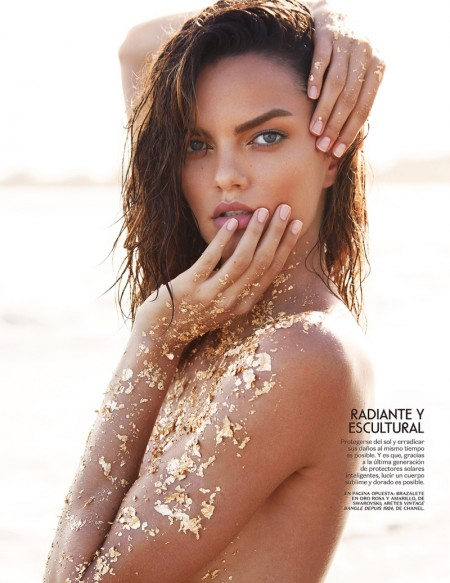 Barbara Fialho is A Golden Beauty in Vogue Mexico Editorial