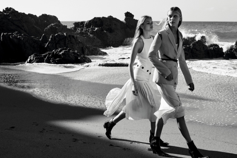 Aneta Pajak & Juliana Schurig star in Vogue China's May issue
