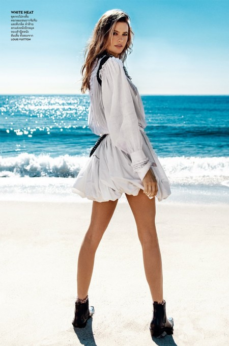 Behati Prinsloo Takes On Beach Fashion for Vogue Thailand