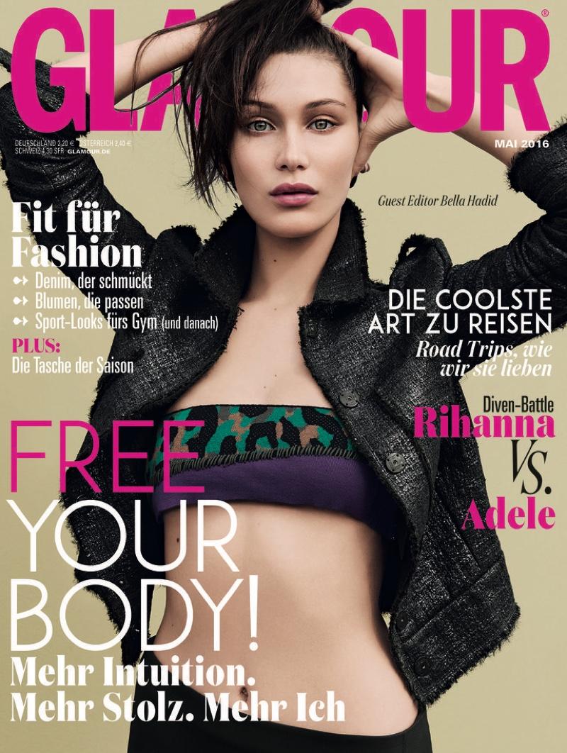Bella Hadid Bella Hadid on Glamour Germany May 2016 Cover