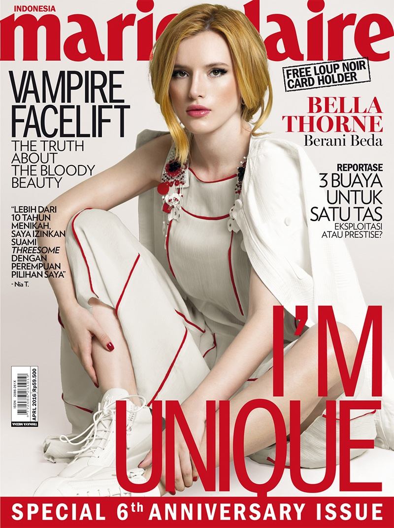 Bella Thorne on Marie Claire Indonesia April 2016 Cover