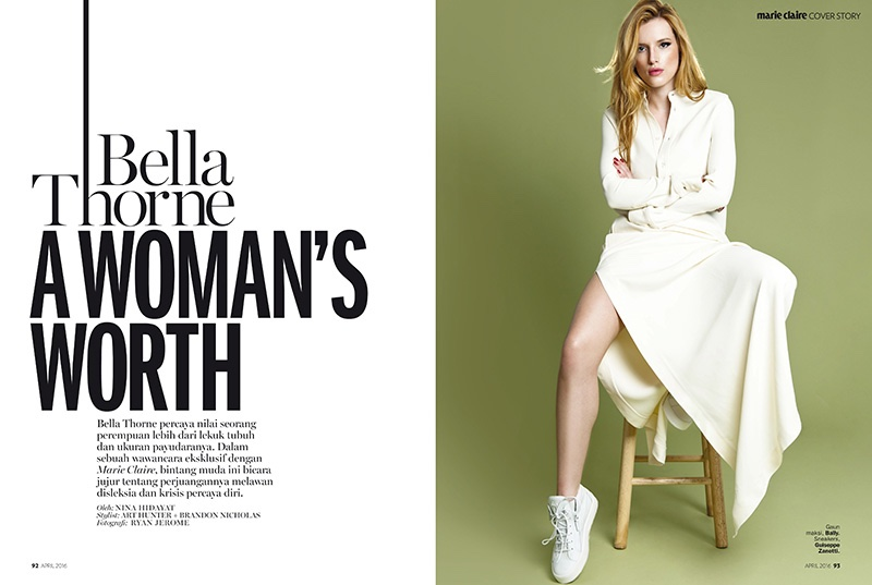 Photographed by Ryan Jerome, Bella Thorne poses in a feature for Marie Claire Indonesia