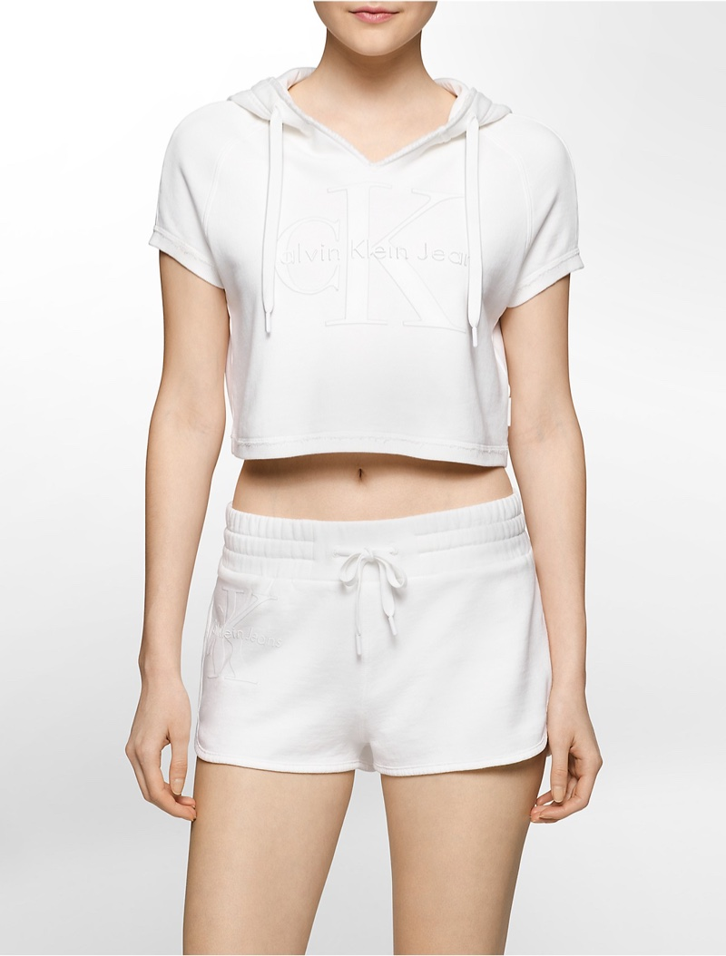 Calvin Klein Limited Edition Cropped Pull On Hoodie