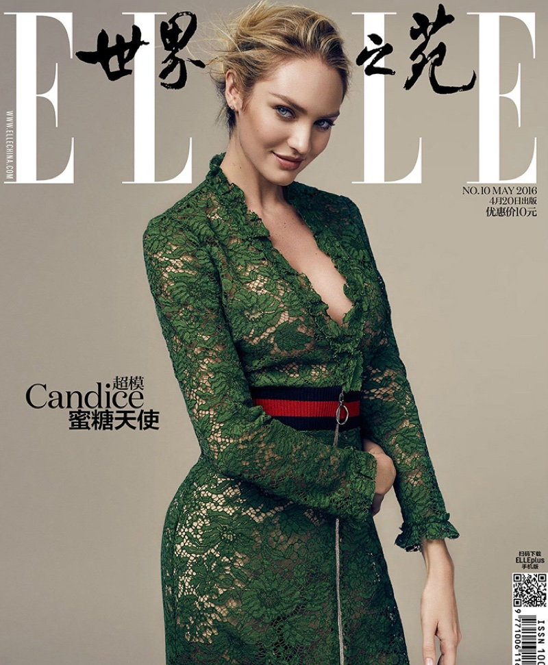 Candice Swanepoel on ELLE China May 2016 Cover