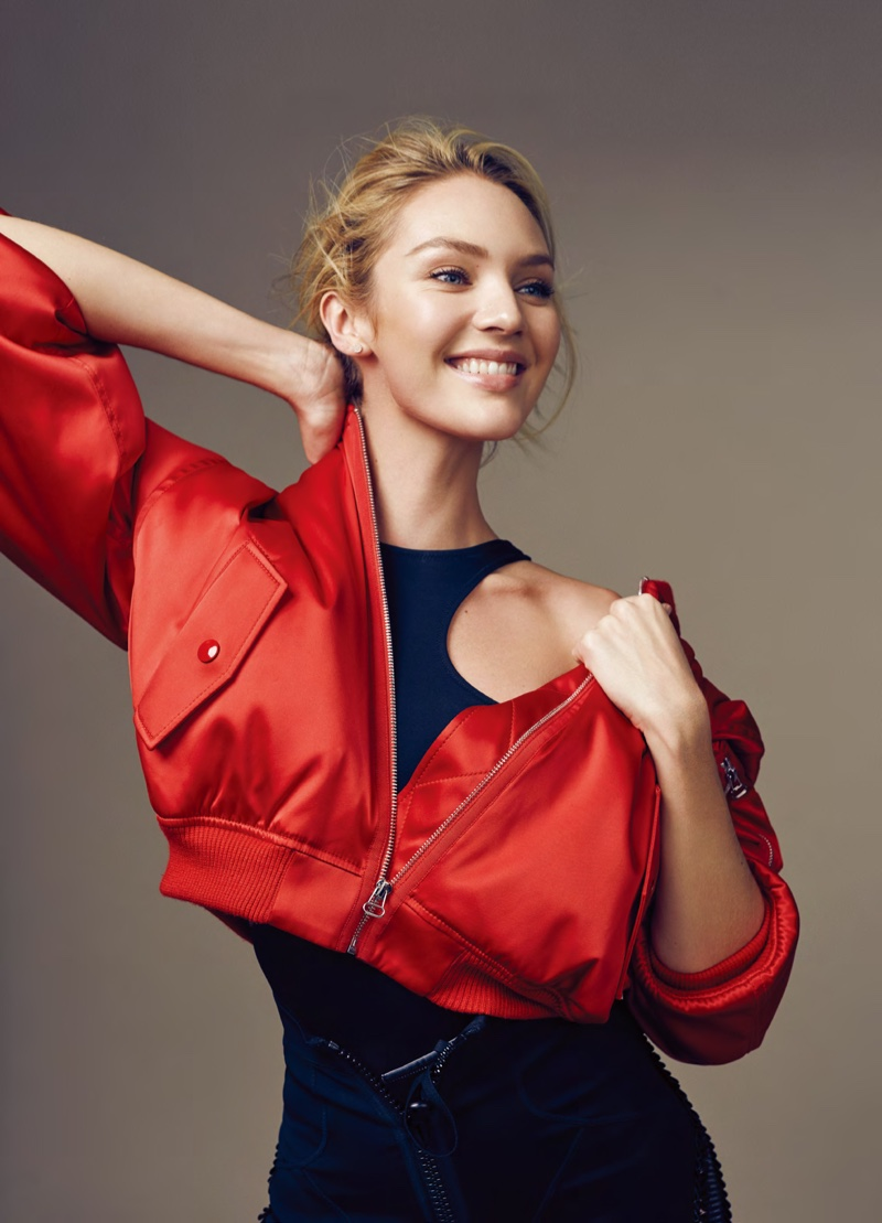 Candice Swanepoel Goes Sporty Glam for ELLE China Editorial