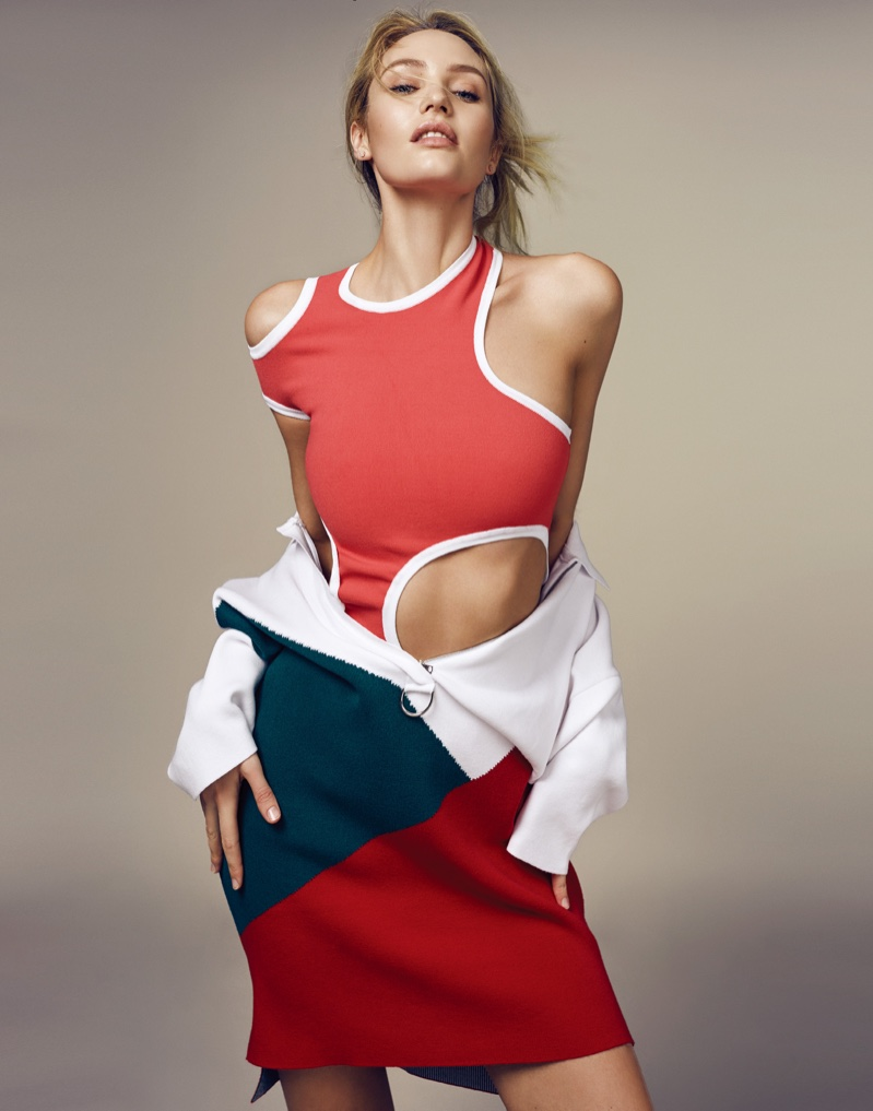 Candice Swanepoel Goes Sporty Glam for ELLE China ...