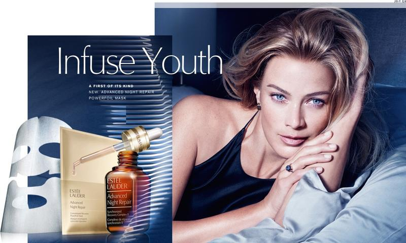 Carolyn Murphy stars in Estee Lauder Infuse Youth 2016 advertising campaign