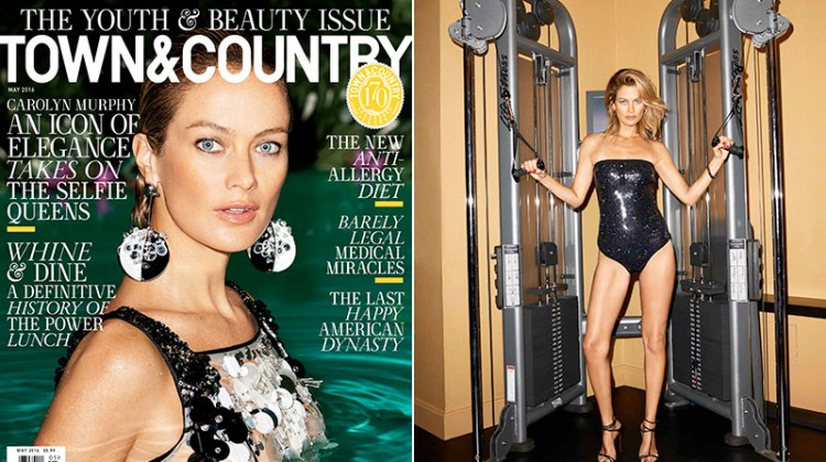 Carolyn Murphy Stars in Town & Country's 'Youth & Beauty' Issue