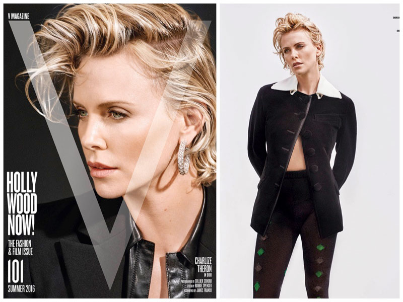 Charlize Theron Gets Her Closeup for V Magazine
