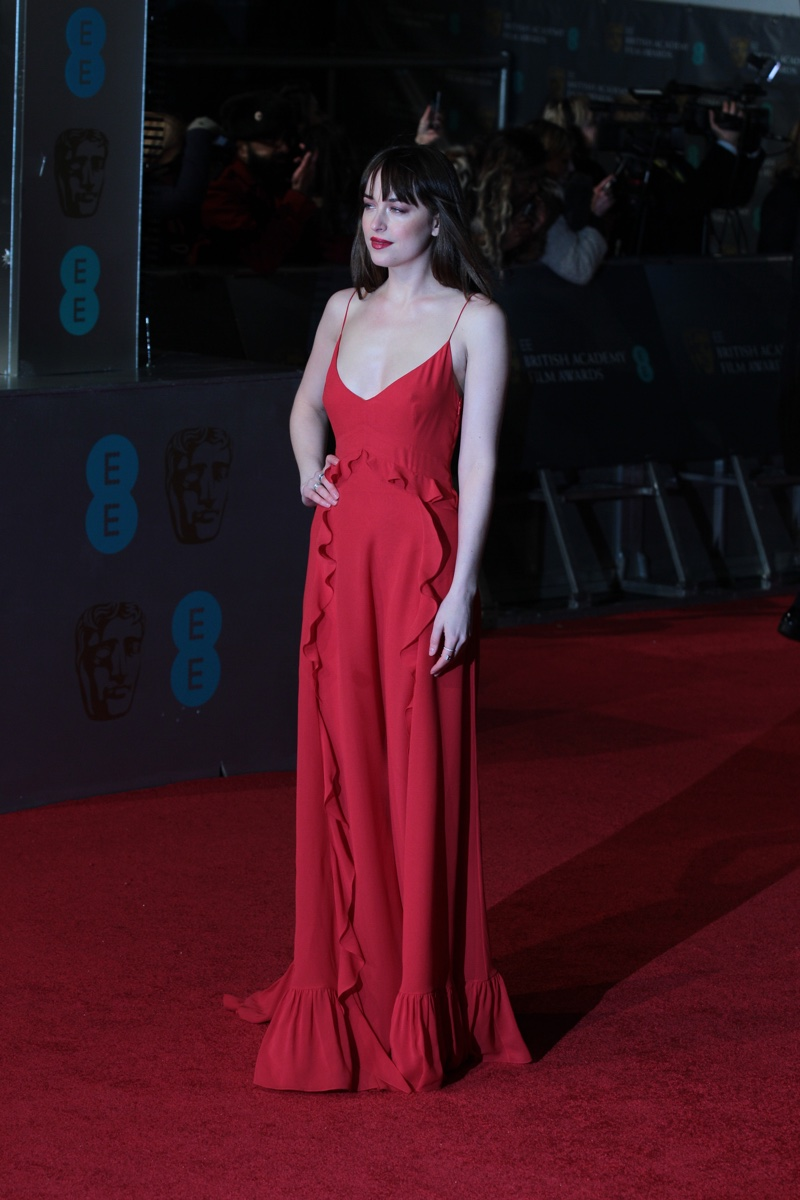 dakota johnson goes sultry for interview cover story 2016 dakota johnson attends the 2016 ee british academy film awards wearing a red