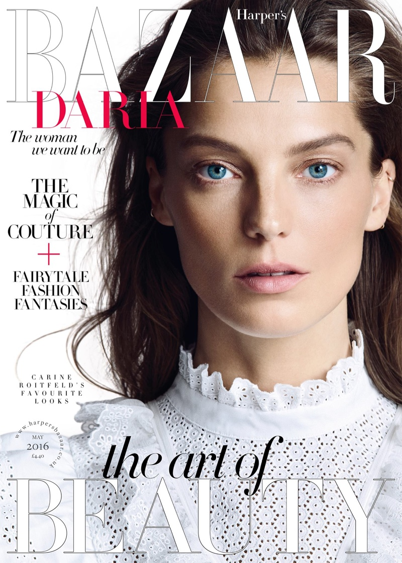 Daria Werbowy on Harper's Bazaar UK May 2016 Cover
