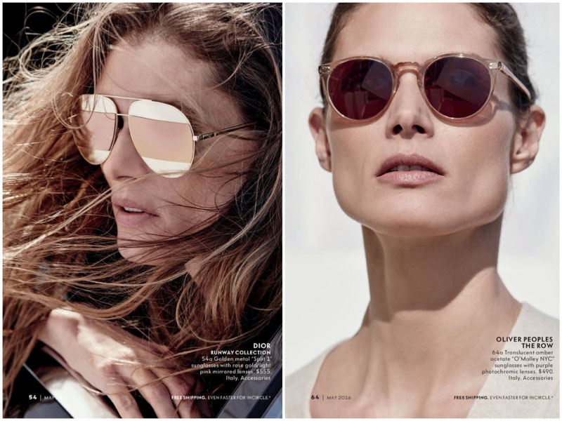 Malgosia Bela Tries on the Hottest Designer Shades