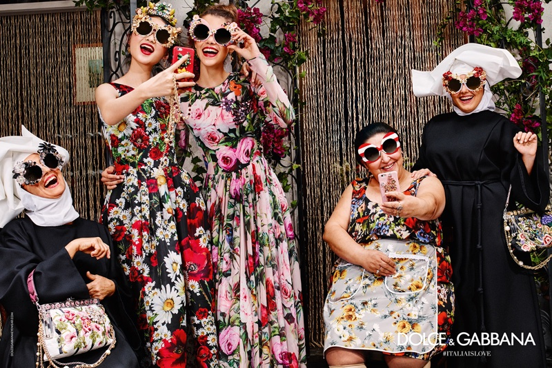 An image from Dolce & Gabbana's spring 2016 eyewear campaign