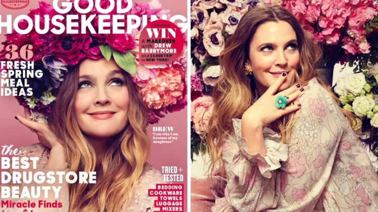 Drew Barrymore Covers Good Housekeeping, Talks Flower Beauty