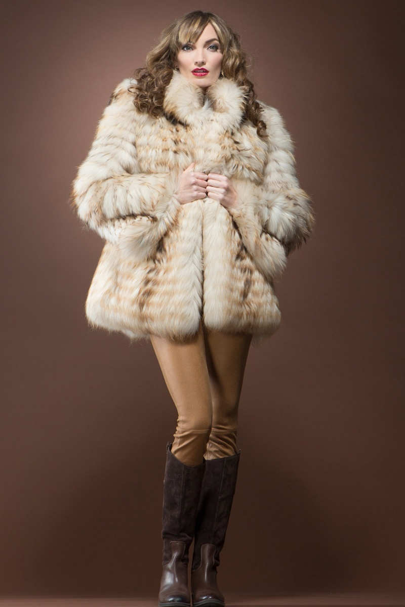 EM-EL Finn Raccoon Feathered Fur Jacket  $2,450 - Take on a sense of pure drama in this raccoon fur coat. Step out onto the scene wearing a pair of wide-leg trousers or an elegant gown.