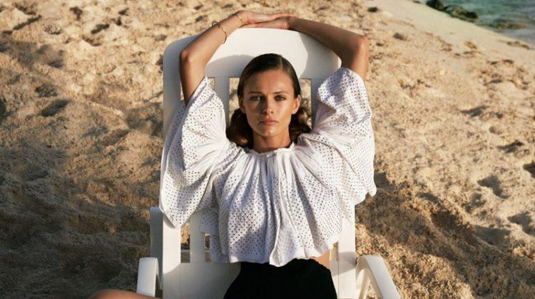 Edita Vilkeviciute Models Vacation-Ready Fashions for WSJ